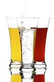 Glasses with juice Royalty Free Stock Photography