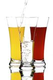 Glasses with juice Royalty Free Stock Photo