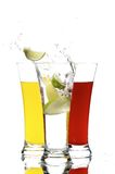 Glasses with juice and lemon Royalty Free Stock Image