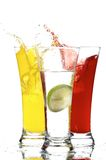 Glasses with juice and lemon Royalty Free Stock Photos