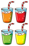 Glasses with juice Royalty Free Stock Images