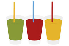 Glasses of juices -  illustration Stock Image