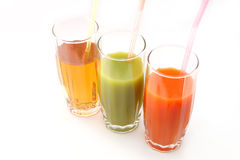 Glasses of juices Stock Image