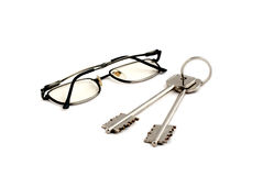 Glasses key. Home black new royalty free stock photography
