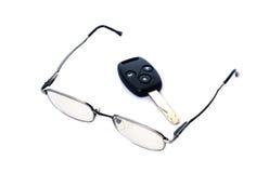 Glasses key. Car black new stock photography