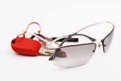 Glasses with keys Stock Photography