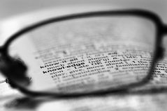 Glasses of Knowledge royalty free stock image