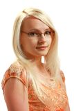 Glasses lady Royalty Free Stock Image
