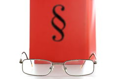 Glasses and law book Royalty Free Stock Image