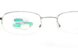 Glasses with lenses stock image