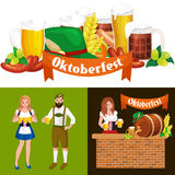 Glasses of light and dark beer with snacks on a pub background. vector illustration