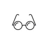 Glasses line icon, outline vector logo, linear pictogram. Isolated on white, pixel perfect illustration royalty free illustration