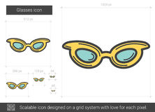 Glasses line icon. Stock Photography