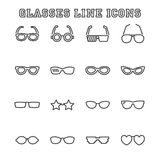Glasses line icons Royalty Free Stock Photos