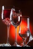 Glasses And Liquids Stock Photo