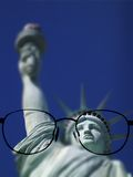 Glasses Looking at Statue of Liberty Royalty Free Stock Images