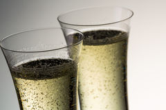 Glasses of luxury champagne Royalty Free Stock Photos