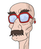 Glasses man Stock Image
