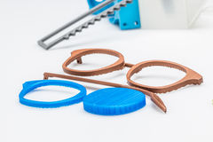 Glasses manufacturing process. Creating and sculpting digitally new shape for glasses Royalty Free Stock Image