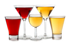 Glasses of martini Stock Images