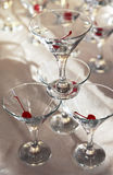 Glasses of martini Stock Image