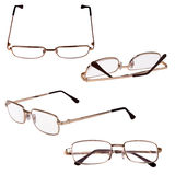 Glasses in metal frame Royalty Free Stock Photo