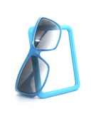 Glasses and mirror. Sun glasses and mirror are isolated Royalty Free Stock Images