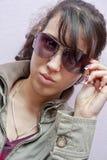 Glasses model Stock Photo