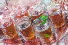 Glasses of Moroccan mint tea Stock Photos