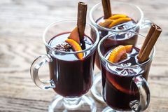 Glasses of mulled wine Royalty Free Stock Images
