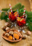 Glasses of mulled wine Stock Photos