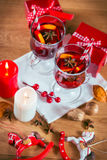 Glasses of mulled wine Stock Image