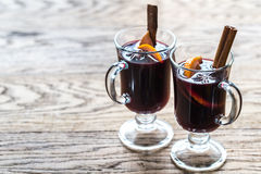 Glasses of mulled wine Royalty Free Stock Photos