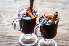 Glasses of mulled wine Royalty Free Stock Photo