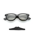 Glasses and mustache forming man face Stock Image