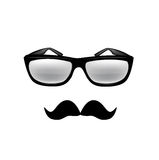 Glasses and mustache isolated Stock Photography