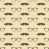 Glasses and mustache  seamless pattern Stock Image