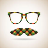 Glasses and mustache Stock Images