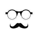 Glasses with mustache Stock Photo
