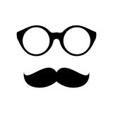 Glasses with mustache Stock Image