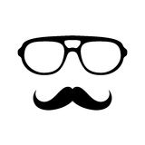 Glasses with mustache Royalty Free Stock Photos