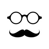 Glasses with mustache. Vector illustration Stock Image