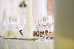 Glasses and Napkins Royalty Free Stock Image