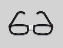Glasses Nerd. Nerdy glasses with taped center vector illustration