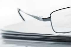 Glasses on newspaper Royalty Free Stock Photography