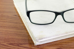 Glasses on notebook Royalty Free Stock Photo
