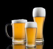 Glasses Of Beer Stock Photos