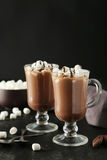 Glasses Of Hot Chocolate Stock Image