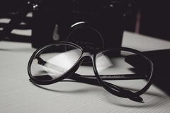 Glasses, Office, Business, Work Stock Photography