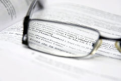 Free Glasses On Dictionary Stock Images - 8649964